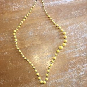 Yellow Fossil Necklace